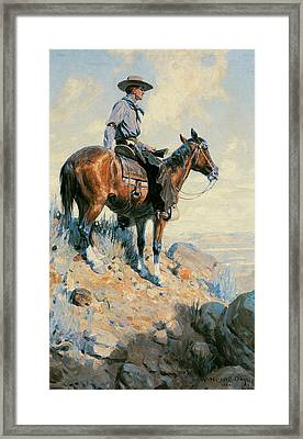 Sentinel Of The Plains Framed Print by William Herbert Dunton