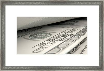 Separated Banknotes Close-up Detail Framed Print