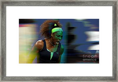 Serena Williams Framed Print by Marvin Blaine