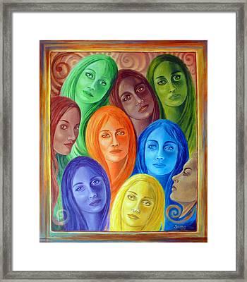 Serene Sisters Framed Print by Sylvia Kula