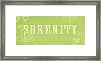 Serenity Framed Print by Linda Woods