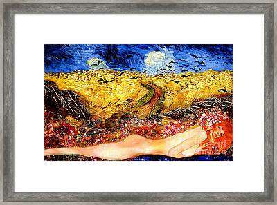 Serpent In Wheatfield Framed Print