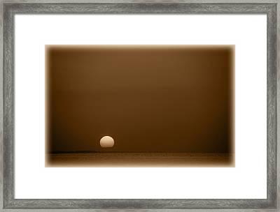 Setting Sun On Lake Sam Rayburn Framed Print by Max Mullins