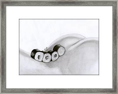 Sexy Rolls Framed Print by Saki Art