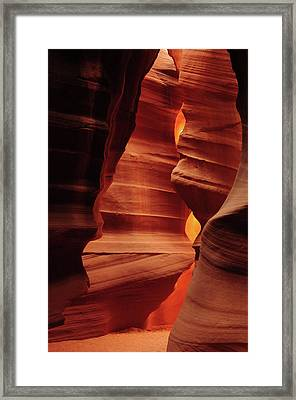Shaft Of Light, Upper Antelope Canyon Framed Print by Michel Hersen