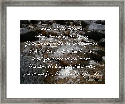 Share The Love Framed Print by Drew Shourd