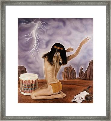 She Called The Rain Framed Print by Rich Milo