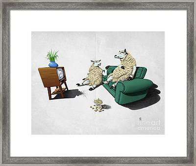 Sheep Wordless Framed Print by Rob Snow