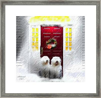 2 Sheepdogs Framed Print