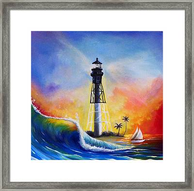 Shine Your Light Framed Print by Carrie Bennett