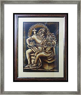 Shiva And Parvathy Framed Print by Sivaanan Balachandran
