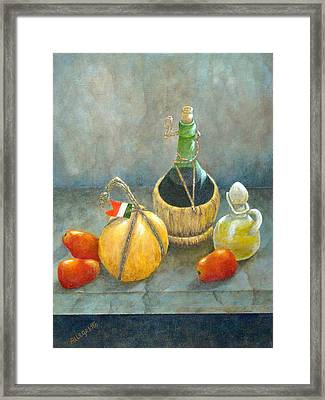 Sicilian Table Framed Print
