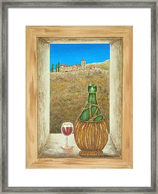 Sicilian View Framed Print by Pamela Allegretto
