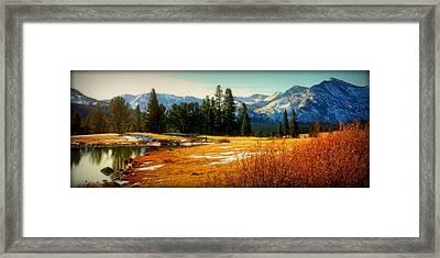 Sierra Panorama Framed Print by Lynn Bawden