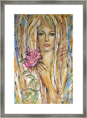 Silence Of Roses 020209 Framed Print