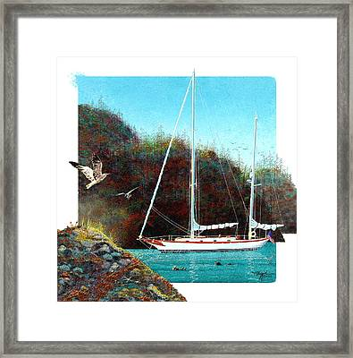 Silent Anchorage Framed Print