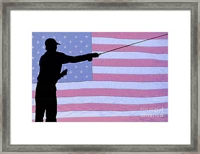 American Fisherman Framed Print
