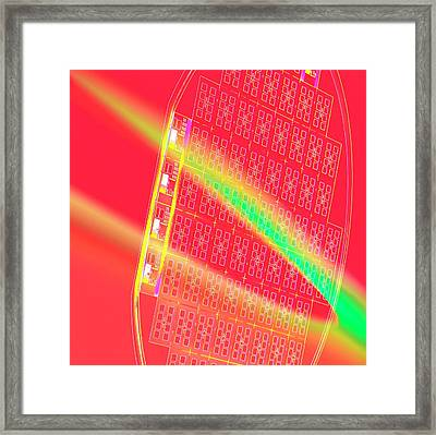 Silicon Wafer Framed Print by Chris Knapton