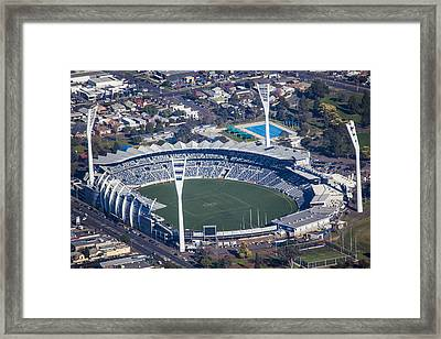 Simmonds Stadium Home Of The Geelong Framed Print by Brett Price