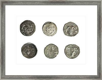 Simon Bar-kokhba Coins Framed Print by Photostock-israel
