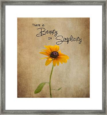The Beauty Of Simplicity Framed Print
