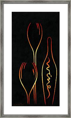 Simply Wine Framed Print