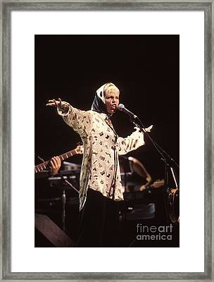 Singer Pat Benatar Framed Print by Concert Photos
