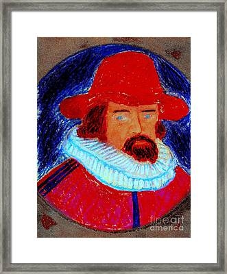 Framed Print featuring the painting Sir Francis Bacon by Richard W Linford