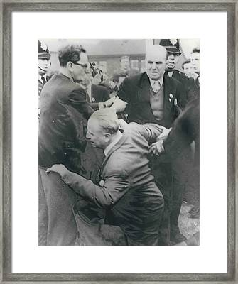 Sir Oswald Mosley Dies In Paris Framed Print by Retro Images Archive