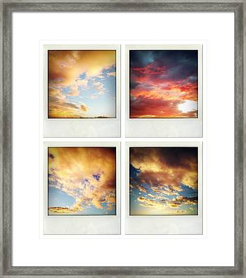 Skies Framed Print by Les Cunliffe