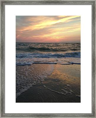 Slanted Setting 2 Framed Print by K Simmons Luna