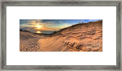 Sleeping Bear Dunes Sunset Framed Print by Twenty Two North Photography