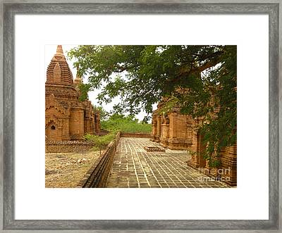 Framed Print featuring the photograph Smaller Temples Next To Dhammayazika Pagoda Built In 1196 By King Narapatisithu Bagan Burma by Ralph A  Ledergerber-Photography