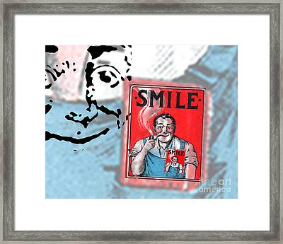 Smile Framed Print by Edward Fielding