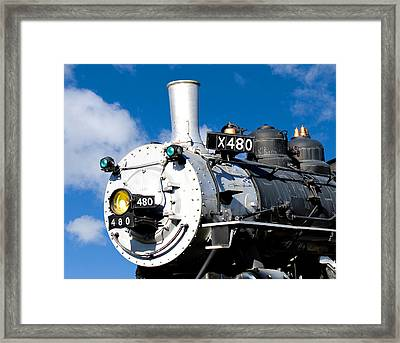 Smiling Locomotive Framed Print by Sylvia Thornton