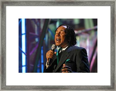 Framed Print featuring the photograph Smokey Robinson by Don Olea