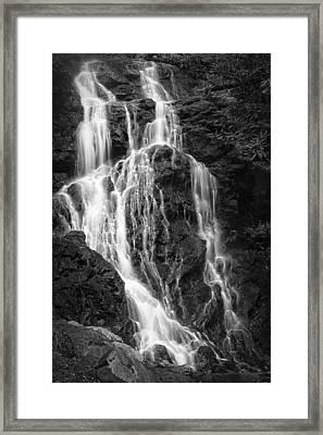 Smokey Waterfall Framed Print by Jon Glaser
