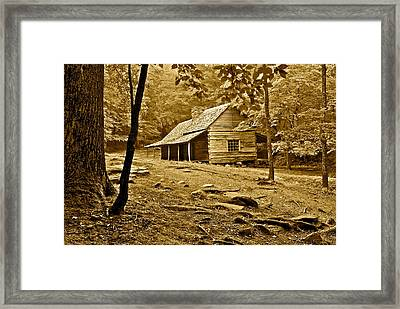 Smoky Mountain Cabin Framed Print by Frozen in Time Fine Art Photography