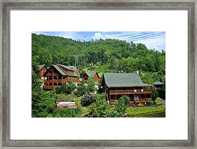 Smoky Mountain Cabins Framed Print by Frozen in Time Fine Art Photography