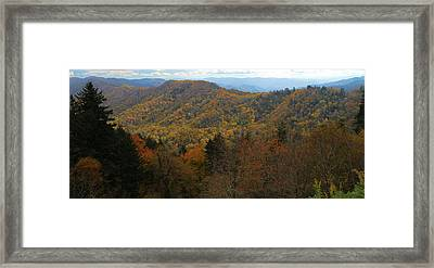 Smoky Mountains In Autumn Framed Print by Dan Sproul