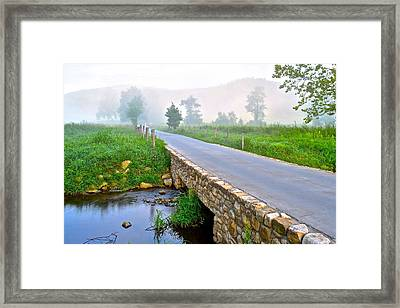 Smoky Mountains Framed Print by Frozen in Time Fine Art Photography