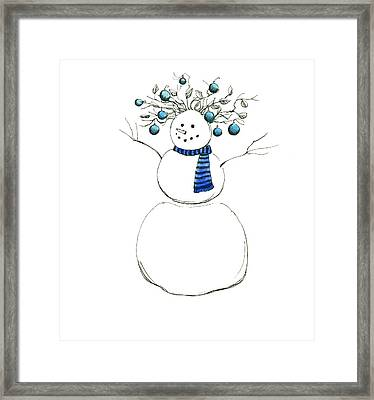Snow Attire Framed Print by Katherine Miller