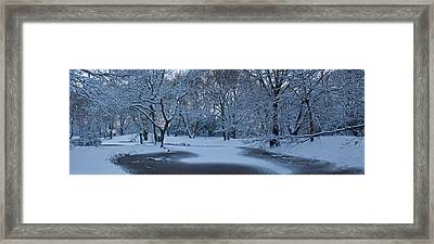 Snow Covered Trees In A Park, Hampstead Framed Print