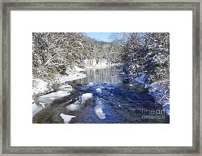 Snow On Gauley River Framed Print by Thomas R Fletcher