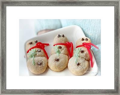 Snowmen Cookies Framed Print by Iris Richardson