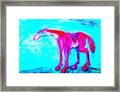 I Am So Lonely I Could Die But I Will Not  Framed Print by Hilde Widerberg