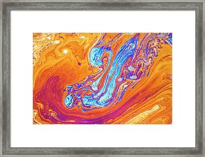 Soap Bubble Iridescence Framed Print
