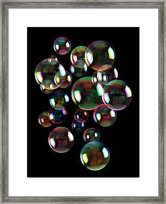 Soap Bubbles Framed Print
