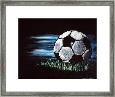 Soccer Ball Framed Print by Dani Abbott