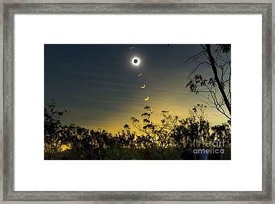 Solar Eclipse Composite, Queensland Framed Print by Philip Hart